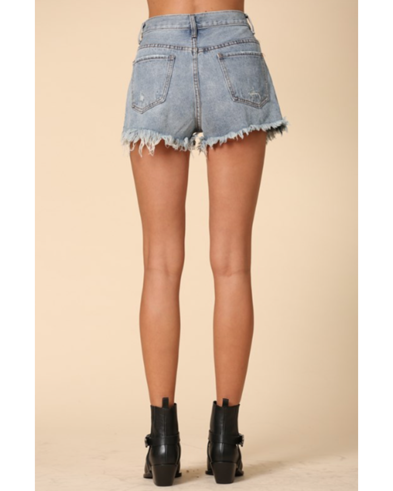 by-together High Wasited Distressed Shorts