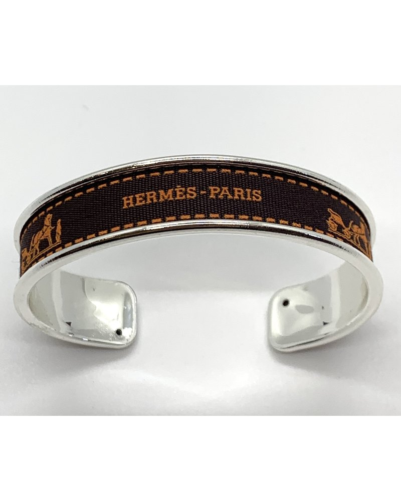 Fornash Ribbon Cuff- Hermes Silver