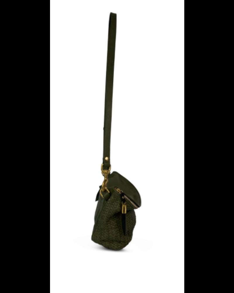 Kempton & Co Windbourne Woven Bag- Olive
