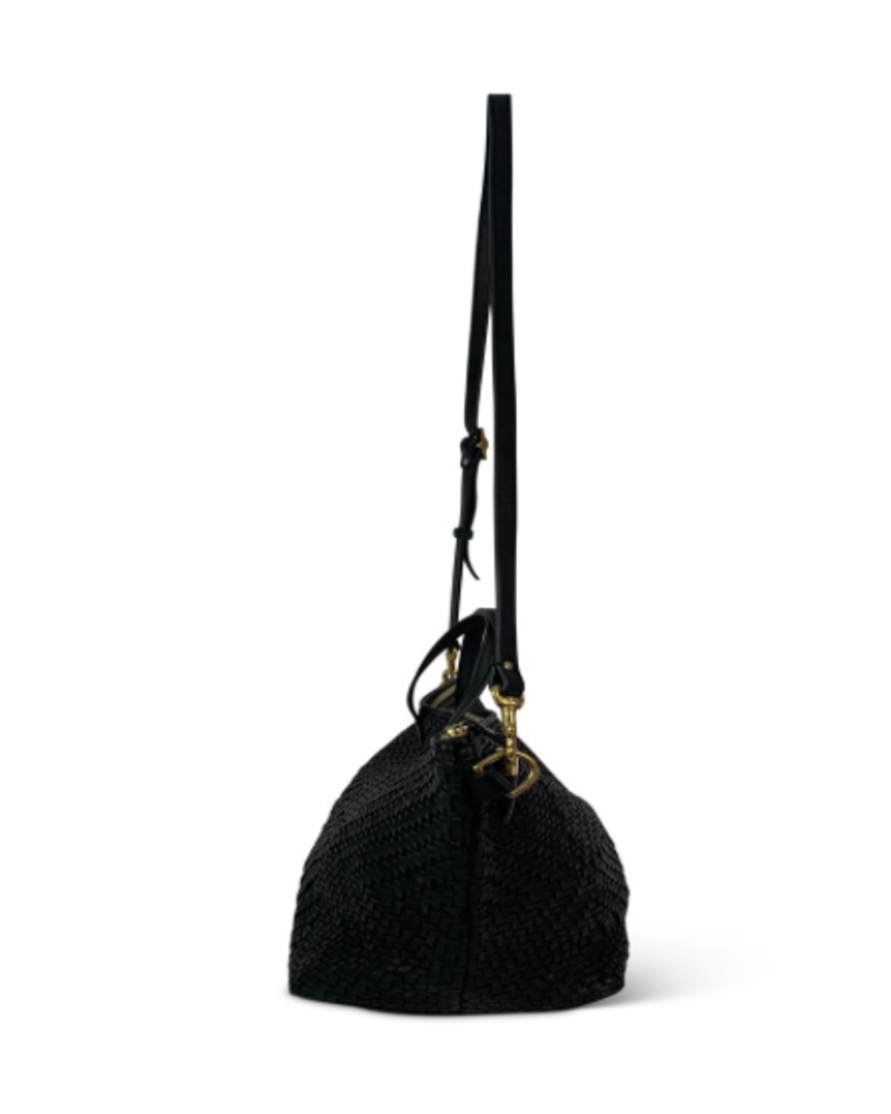 Kempton & Co Devon Hold All Woven Bag- Black