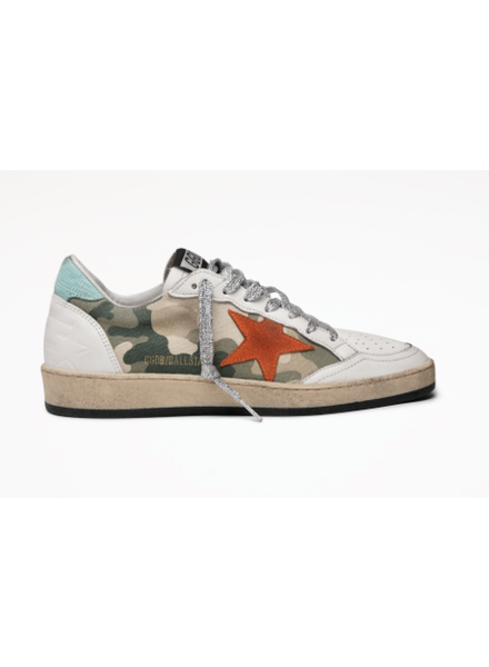 Golden Goose Ball Star Camo Orange Star