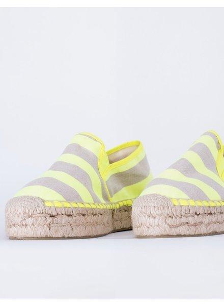 Vilagallo Susan Linen Platform Lime