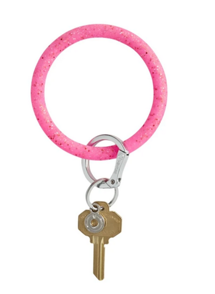 O Venture Big O Confetti Key Ring- Tickled Pink
