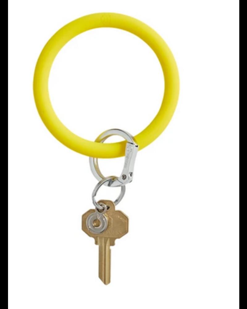 O Venture Big O Silicone Key Ring- Yes Yellow