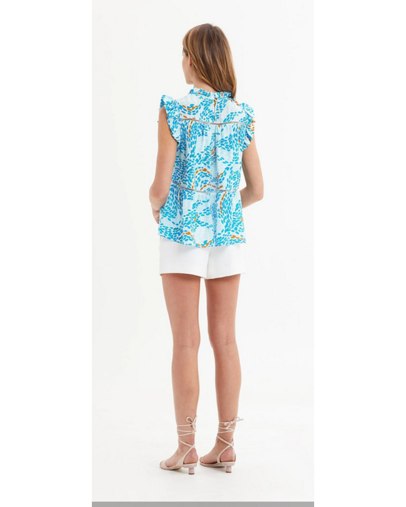 Marie Oliver Tia Tiered Blouse