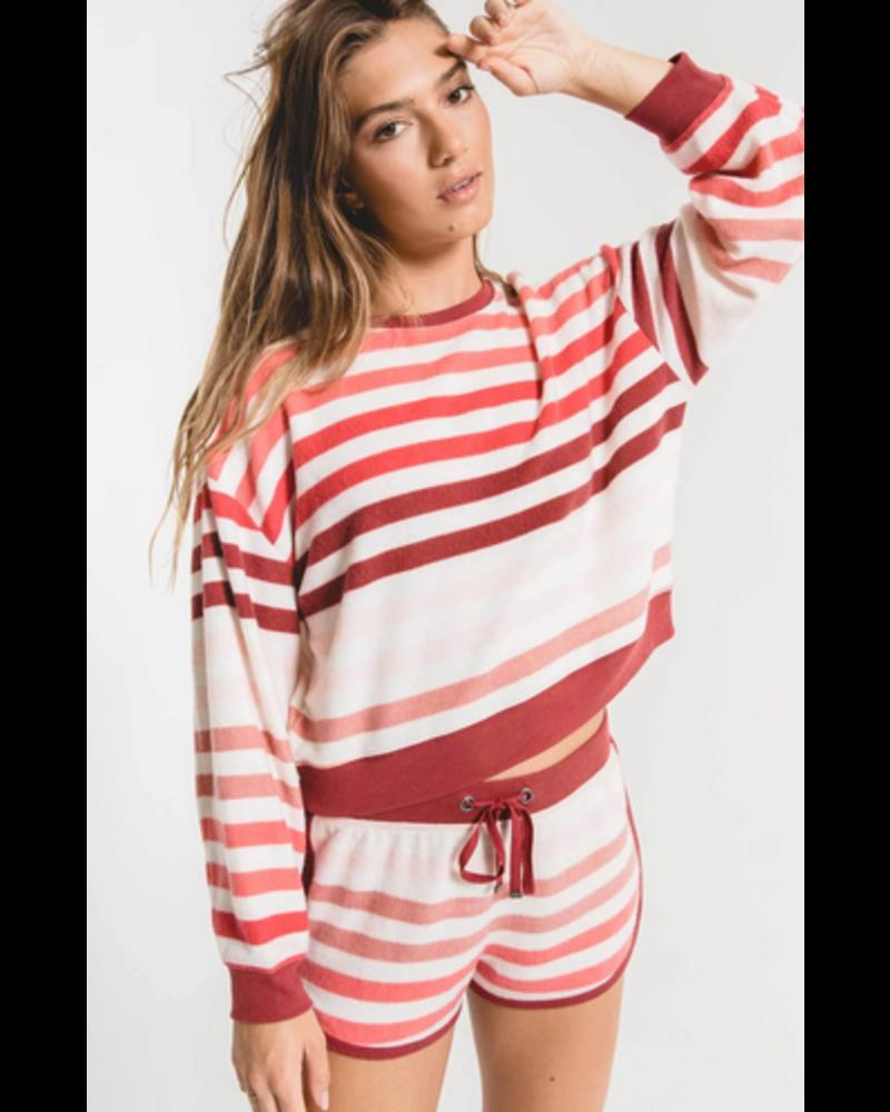 Z Supply The Rainbow Stripe Pullover