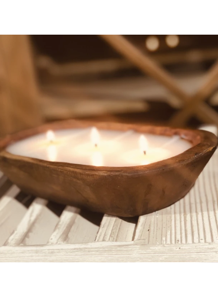 Lux Fragrances 3 Wick Dough Bowl Candle