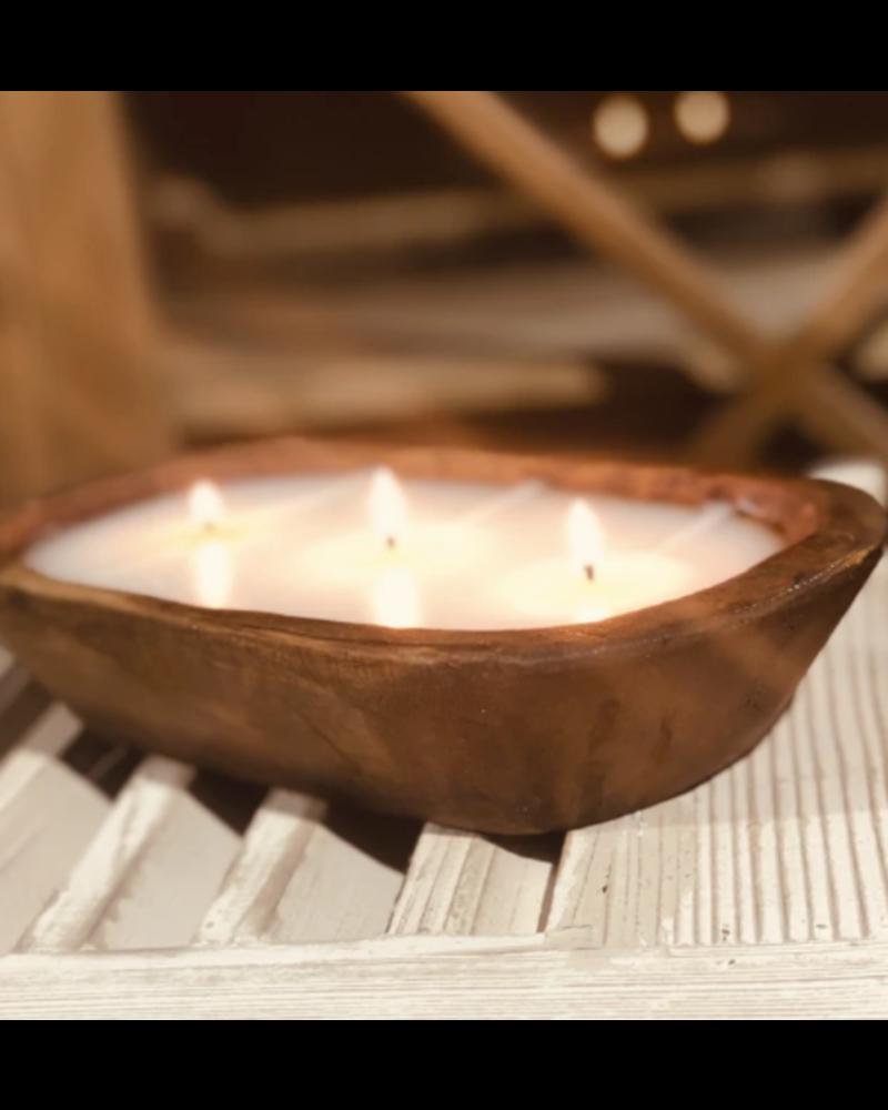 Lux Fragrances 3 Wick Dough Bowl Candle