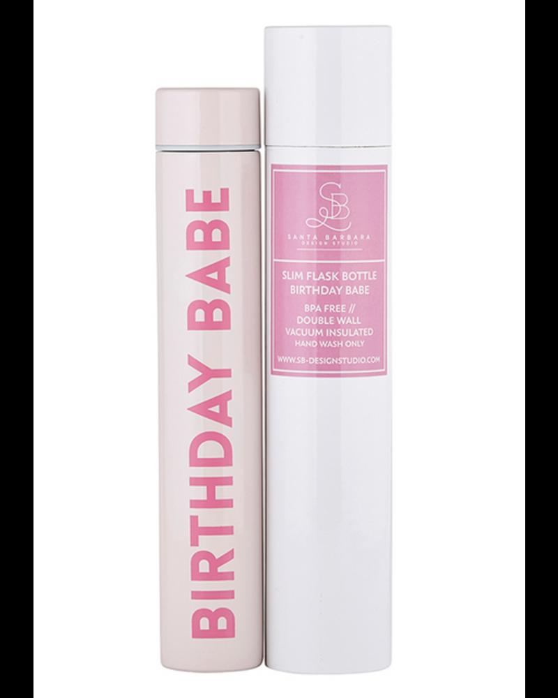 Santa Barbara design Birthday Girl Flask