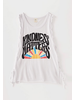 White Crow Kindness Matters Lace Up Top
