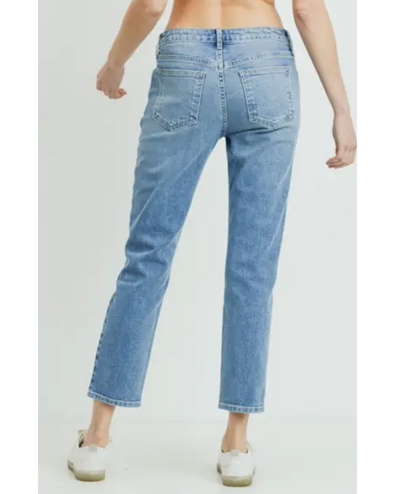 Just Black Denim Vintage Distressed Boy Jean