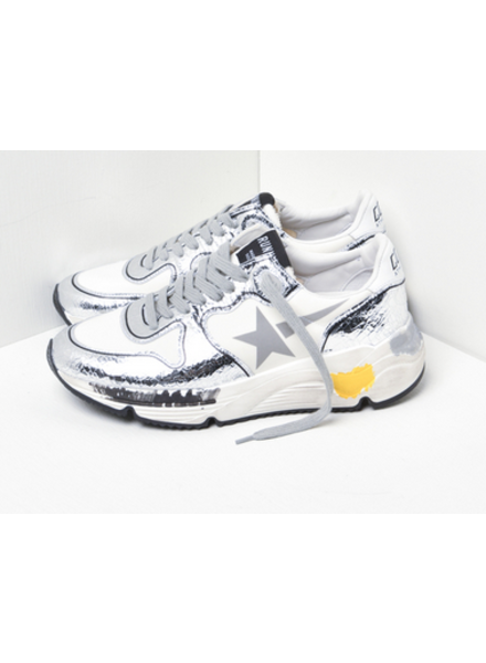 Golden Goose Running Sole Lycra Upper Print Star Crack Toe and Spur