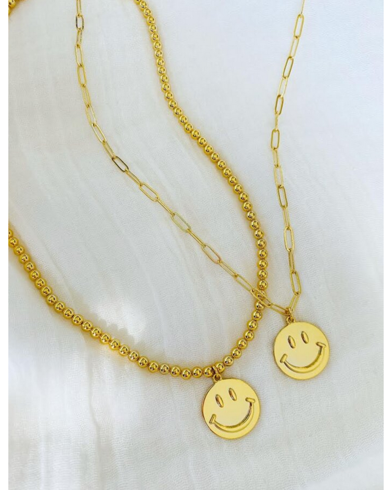 Alv Jewels Be Happy Necklace - Link Chain