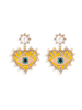 Koko & Lola Swarovski Heart & Pearl Accent Earring