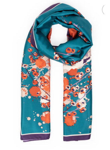 Powder Design Watercolour Fox Satin Print Scarf