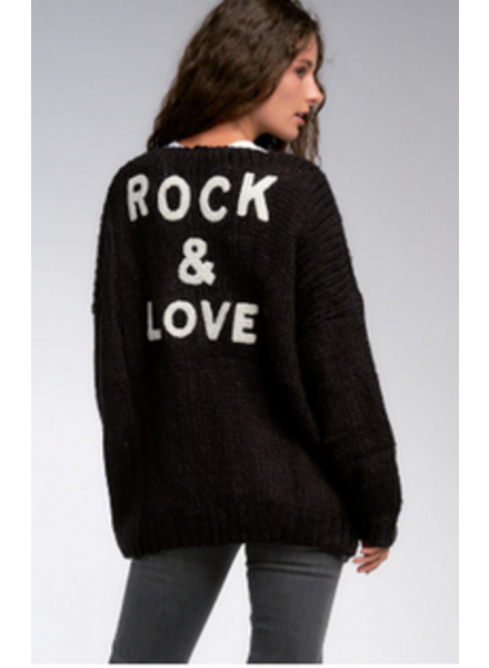 Elan Rock & Love Cardigan Sweater O/S