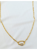 Alv Jewels Pave Oval Link Necklace