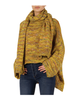 Elan Multi Color High-Low Sweater with Matching Scarf O/S