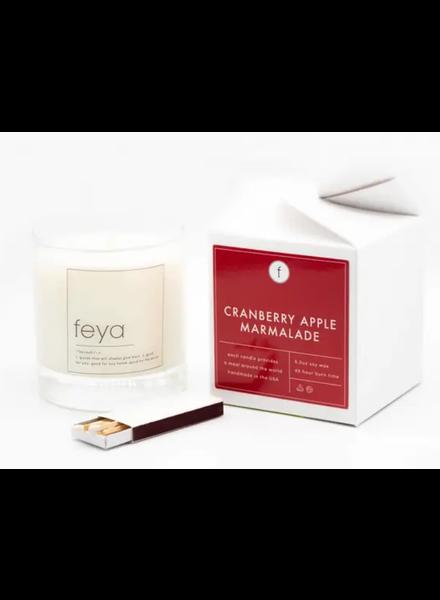 Freya Candle Co Cranberry Apple Marmalade Candle 6.5 OZ