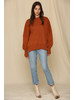 by-together Oversized Mock Neck Sweater