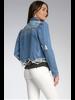 Elan Denim Jacket with Puffy Sleeves