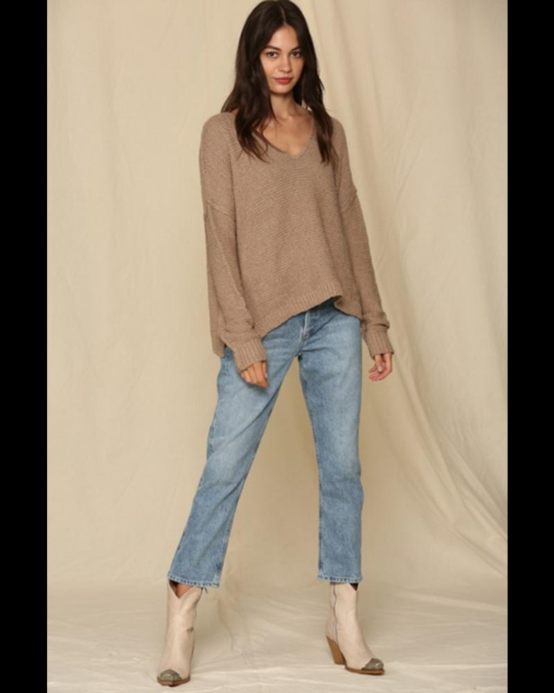 by-together V Neck Sweater
