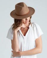 Lucca Couture Felt Fedora with Braid Trim