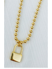 Alv Jewels Abbey Lock Charm Necklace