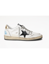 Golden Goose Ballstar White Leather w/ Suede Black  Star