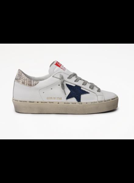 Golden Goose Hi Star Classic Denim Star with Marble Heel
