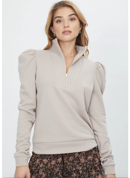 Generation Love Nariah Partial Zip Pullover Sweatshirt
