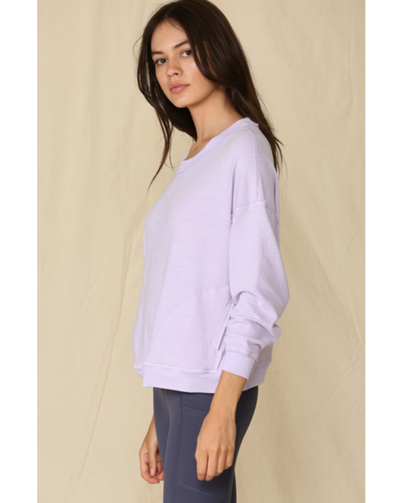 Blank Paige Crewneck Pullover with Side Pockets