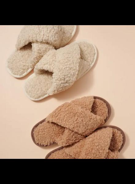 Fadivo New York Teddy Sherpa Fur Slippers
