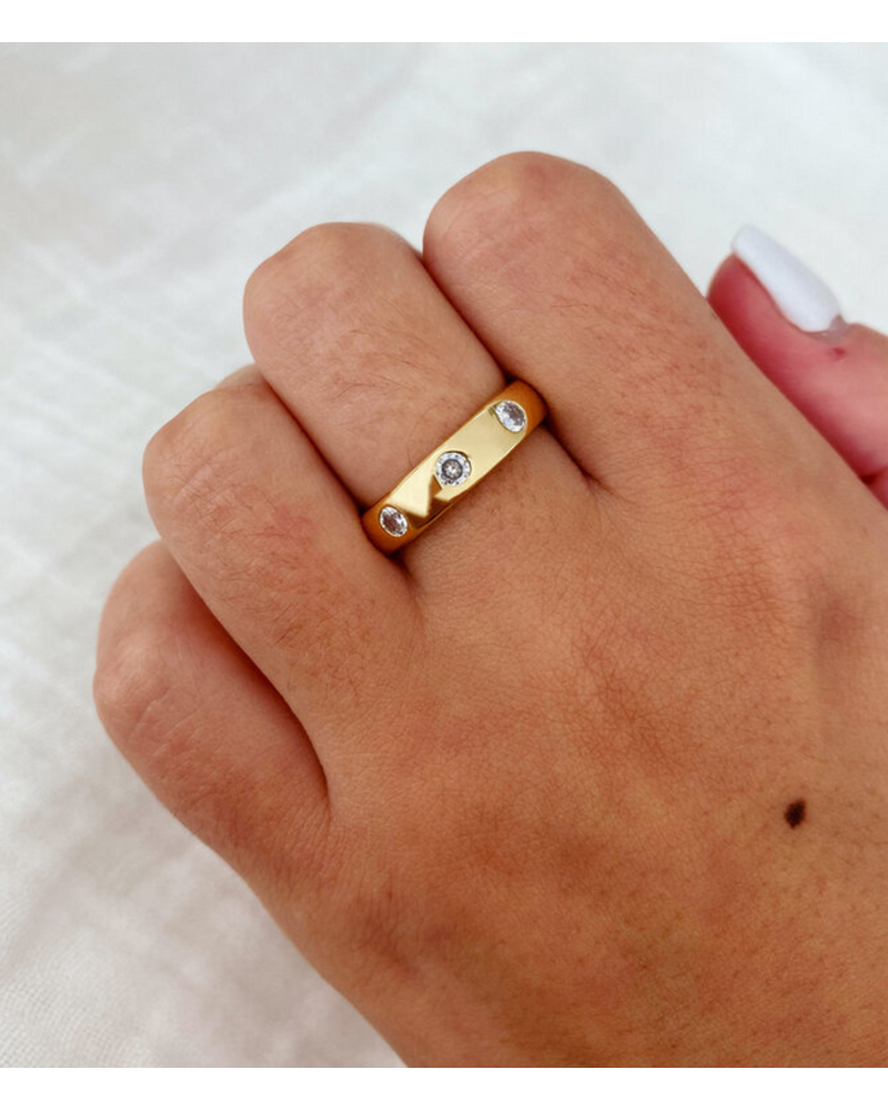 Alv Jewels Pave Gold Band Ring
