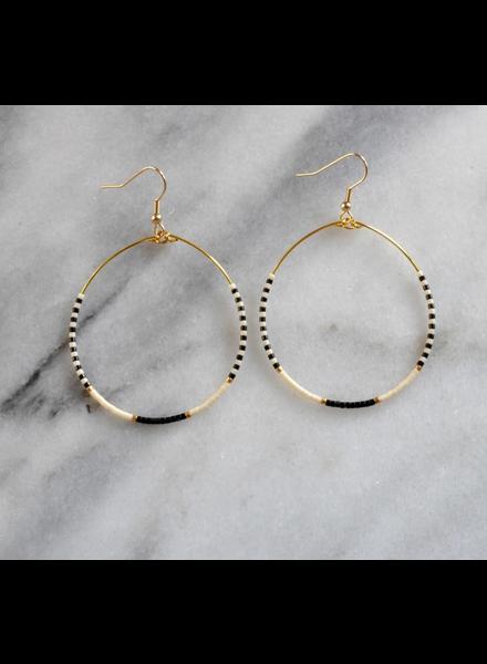 Libby & Smee Large Beaded Hoop Earrings
