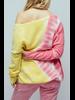 Crush Malibu Tie Dye Oversized V Neck Cashmere Sweater