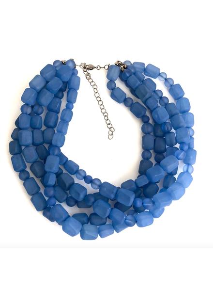 Leetie Lovendale Sylvie Frosted Beaded Necklace