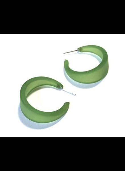 Leetie Lovendale Marilyn Large Fosted Hoop Earrings