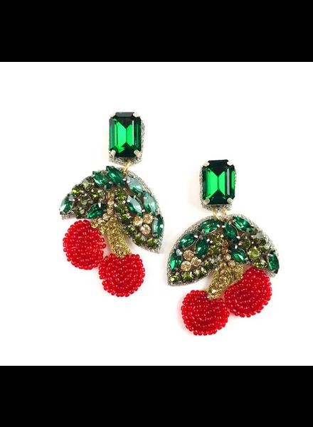 Allie Beads Cherry Earrings