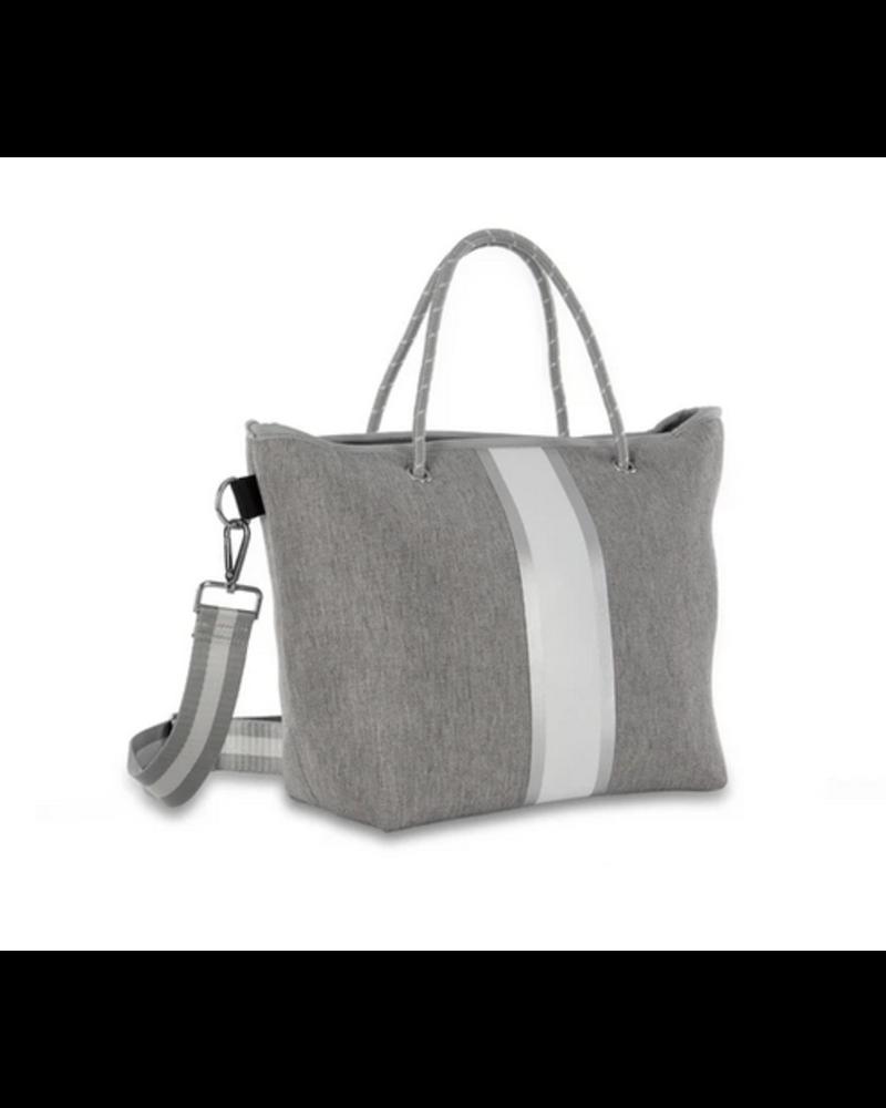 Haute Shore Ryan Mini Tote - Steal Grey Linen/White