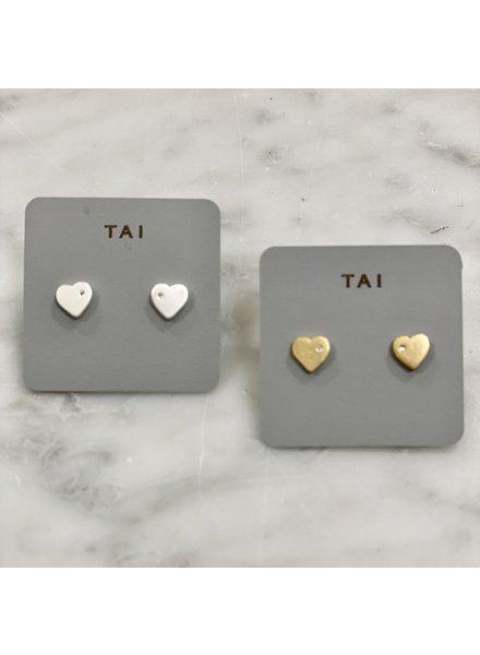 Tai Vintage Heart Stud Earrings