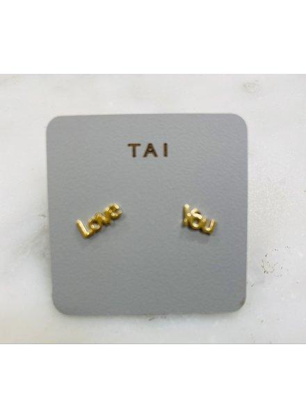 Tai Love You Stud Earrings