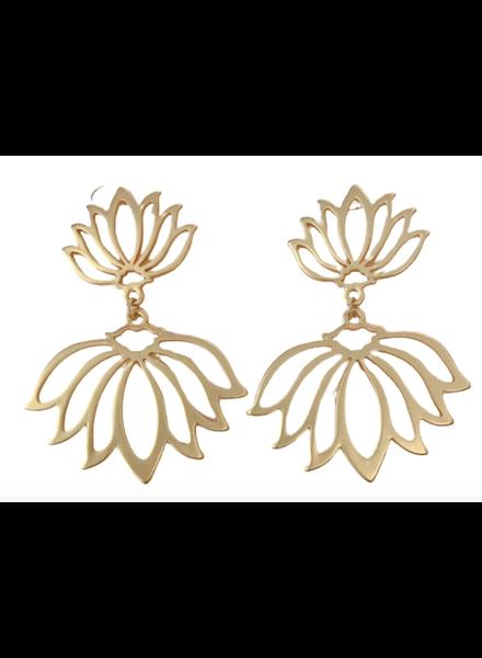 Anna Cate Ella Lotus Drop Earrings
