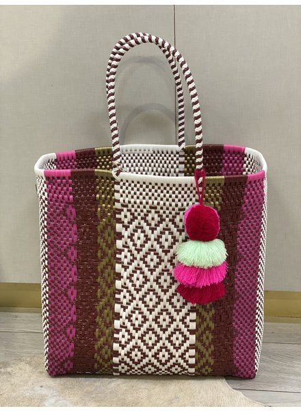 Squeeze De Citron Fuchsia Chocolate Citron Large Tote