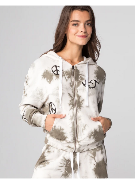 CHRLDR All-Over Peace Zip Up Hoodie