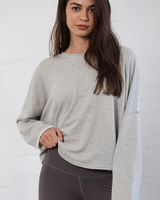 by-together French Terry Back Overlay Top