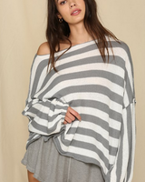 Striped Oversized Sweater