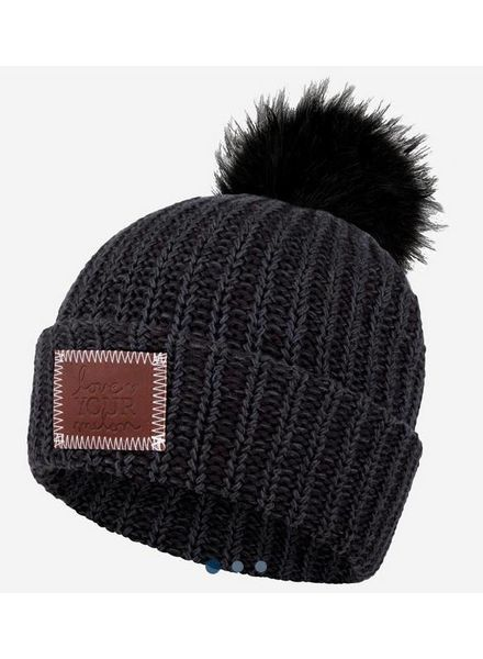 Love Your Melon Pom Beanie with Black Pom