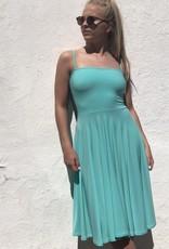 Spaghetti Strap Circle Skirt Dress