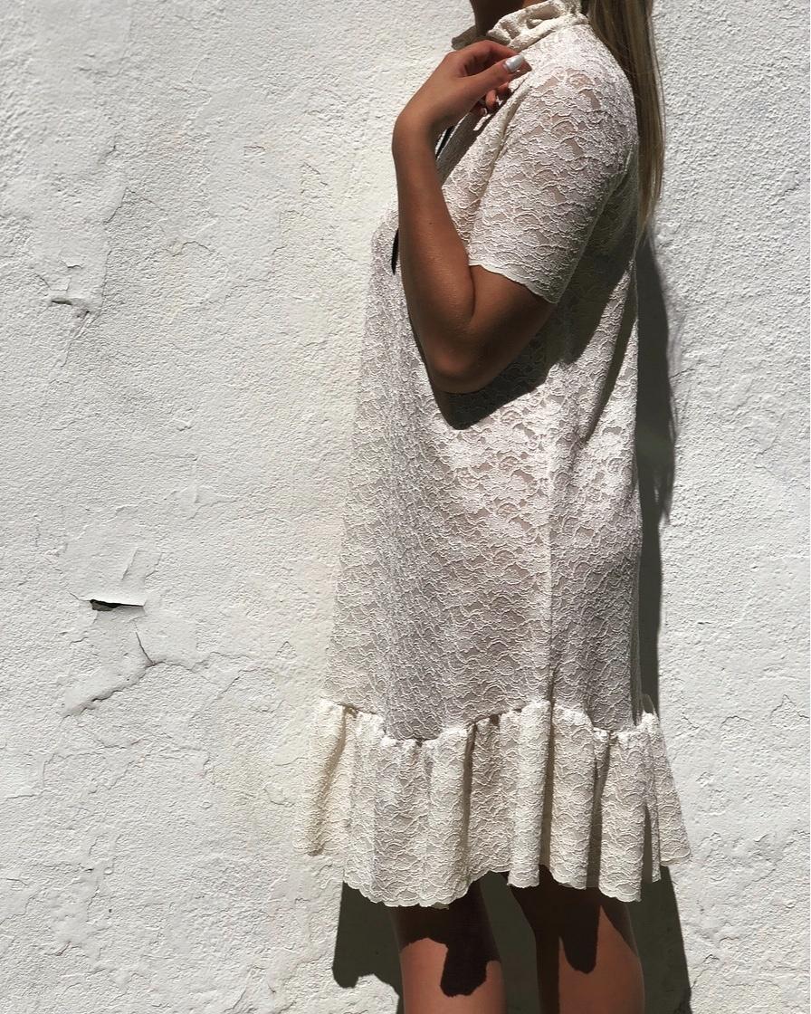 Sooley Designs Babydoll Dress - Cream Lace